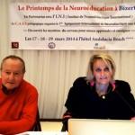 Les professeurs Pierre Huc et Brigitte Vincent-Smith